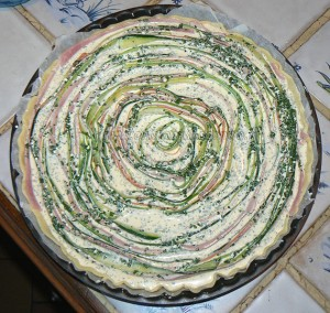 Tarte spirale aux courgettes et carottes etape4