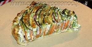 Tarte spirale aux courgettes et carottes une