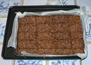 Barres au miel et aux graines de sésame fin