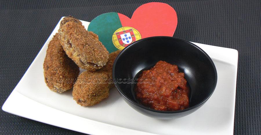 Croquettes de viande et béchamel à la Portugaise