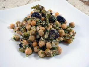 Salade portugaise aux pois chiches fin