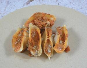Conchiglionis, sauce tomates à la ricotta presentation