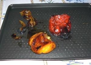 Taboule poivrons, pasteque et feta etape1