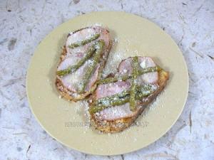Pain perdu au bacon et asperges vertes fin2