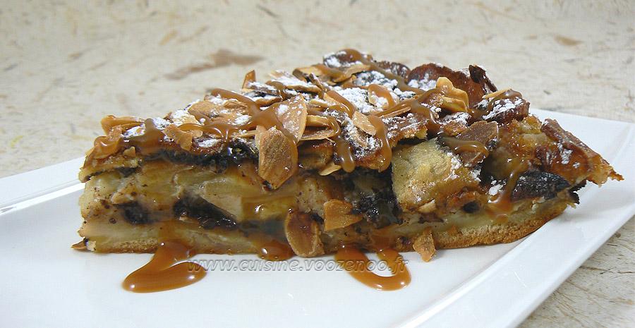 Gâteau invisible aux pommes et cacao