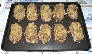 Tartines aux senteurs du sud aubergines ail et thym etape3
