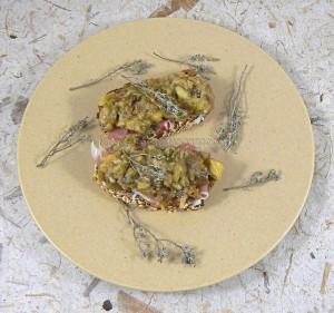 Tartines aux senteurs du sud aubergines ail et thym fin