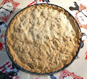 Mustikkakukko, tarte sablée aux myrtilles fin