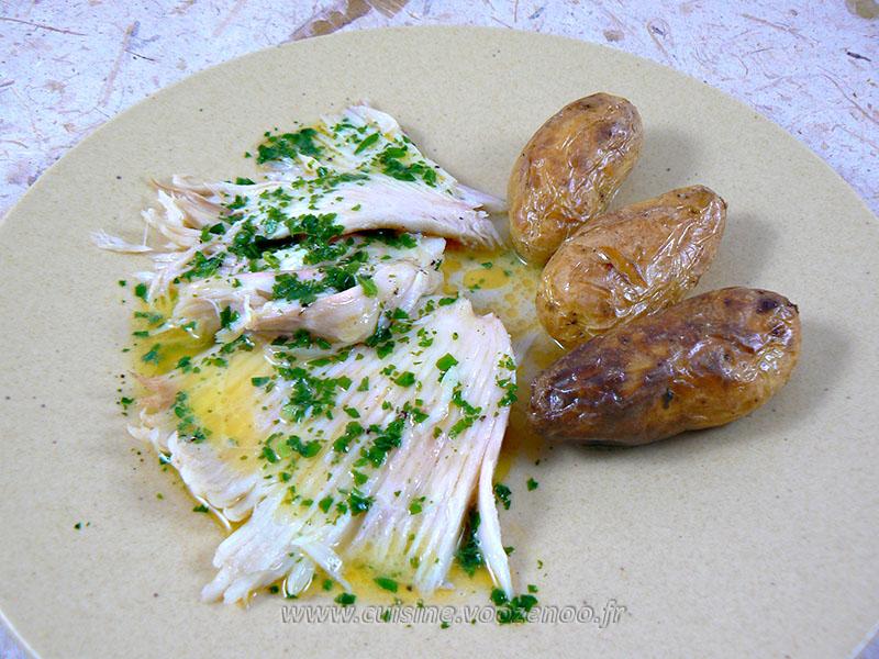 Ailes de raie sauce au beurre fondu ou aux c pres une - Cuisiner ailes de raie ...