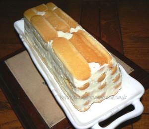 Charlotte façon cake aux deux citrons fin
