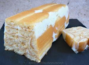 Charlotte façon cake aux deux citrons presentation