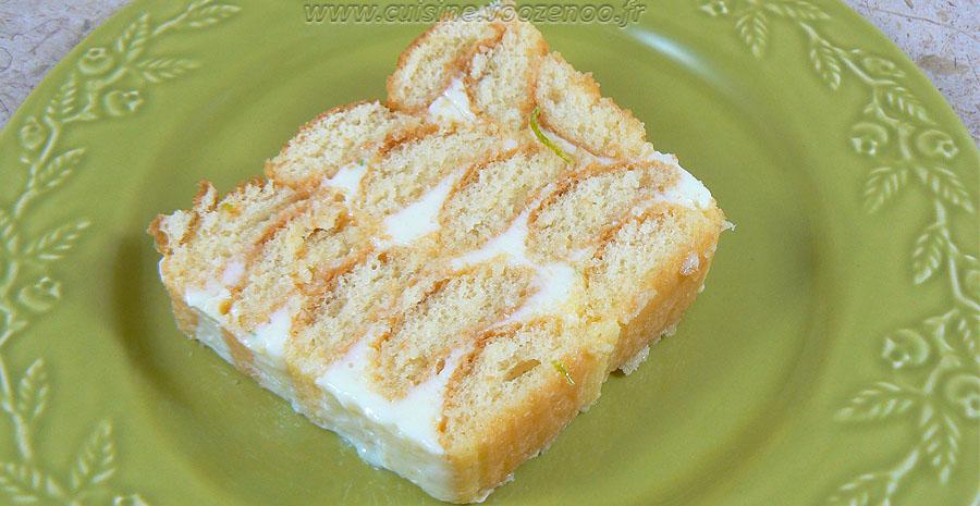 Charlotte façon cake aux deux citrons slider
