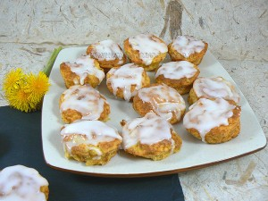 Muffins au citron et à la pomme de terre fin