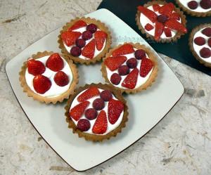 Tartelettes fraises - framboises gourmandes fin