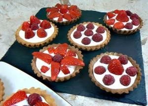 Tartelettes fraises - framboises gourmandes fin4