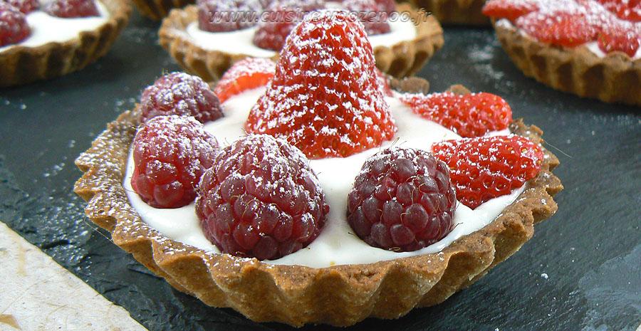 Tartelettes fraises - framboises gourmandes slider