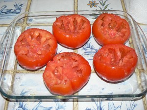 Tomates farcies à l'indienne vegetarienne etape1