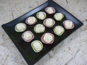 Bouchees fondantes au chocolat blanc coco et rhum fin