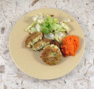 Galettes de poulet, courgettes, emmental fin2