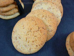 Cookies aux graines de sesame presentation
