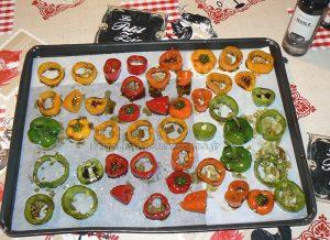 Mini-poivrons à l'huile de courge et aux graines de courge etape3
