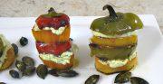Mini-poivrons à l'huile de courge et graines de courge