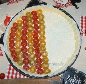 Tarte bicolore aux tomates cerises etape2