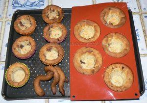 Cookies cup, glace vanille maison et chocolat fondu etape2