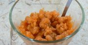 Purée d'abricot givrée