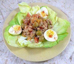 Empedrat, salade de legumineuses catalane fin
