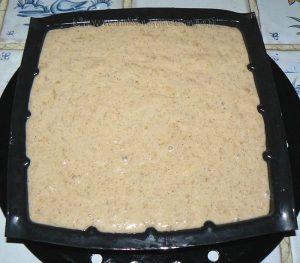 Gâteau renversé à la banane, mirabelles caramelisées etape4