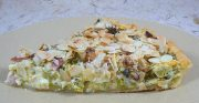 Tarte brocolis, lardons, amandes et Fourme D'Ambert