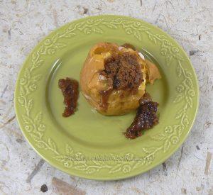 Pommes au four, sirop d'erable et speculoos fin2