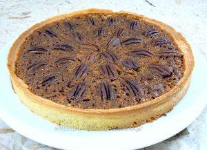 Pecan pie : Tarte aux noix de pecan americaine presentation