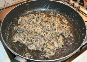 Croustade aux champignons etape1
