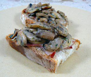 Croustade aux champignons presentation