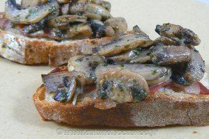 Croustade aux champignons slider