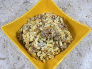Pâtes comme un risotto aux légumes et viande fin2