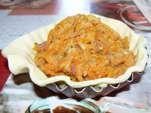 Mini tourte aux carottes à l'orange et veau etape3
