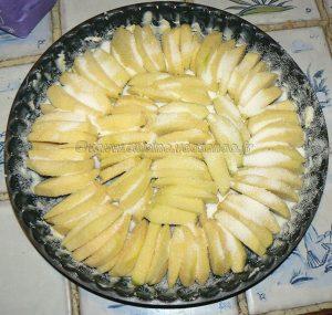 Tatin pudding aux pommes etape1