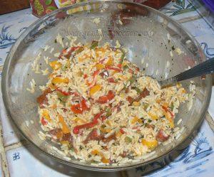 Terrine de riz aux poivrons et chorizo etape3