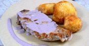 Côtes de veau de lait Limousin, sauce moutarde violette de Brive