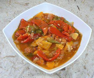 Salade de poivrons à l'algéroise presentation