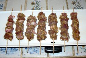 Kebab au gigot et foie d'agneau etape3