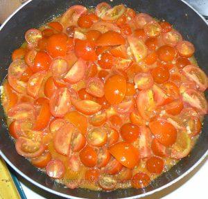 Dos de cabillaud, sauce tomates cerises etape1