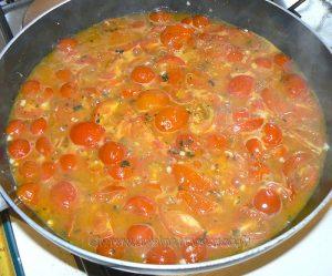 Dos de cabillaud, sauce tomates cerises etape2