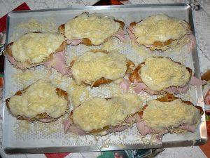 Croissants au jambon et béchamel etape1