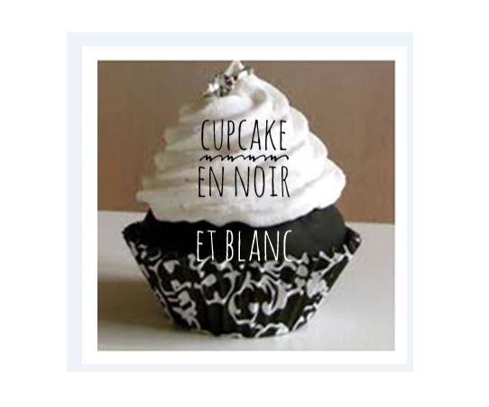 cupcake noir et blanc