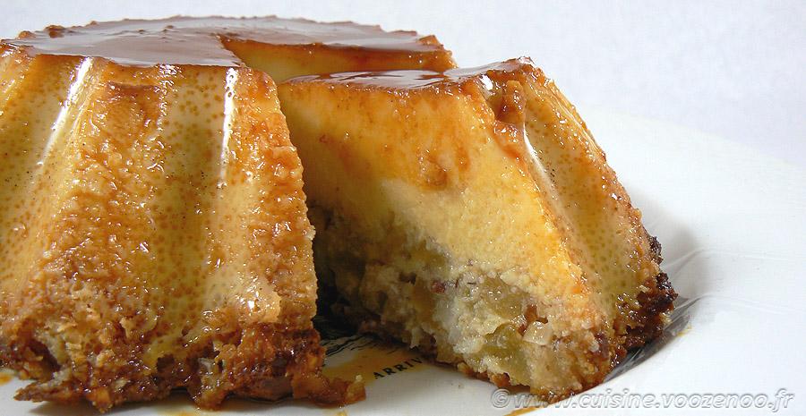 Flan aux pommes, amandes et Calvados slider