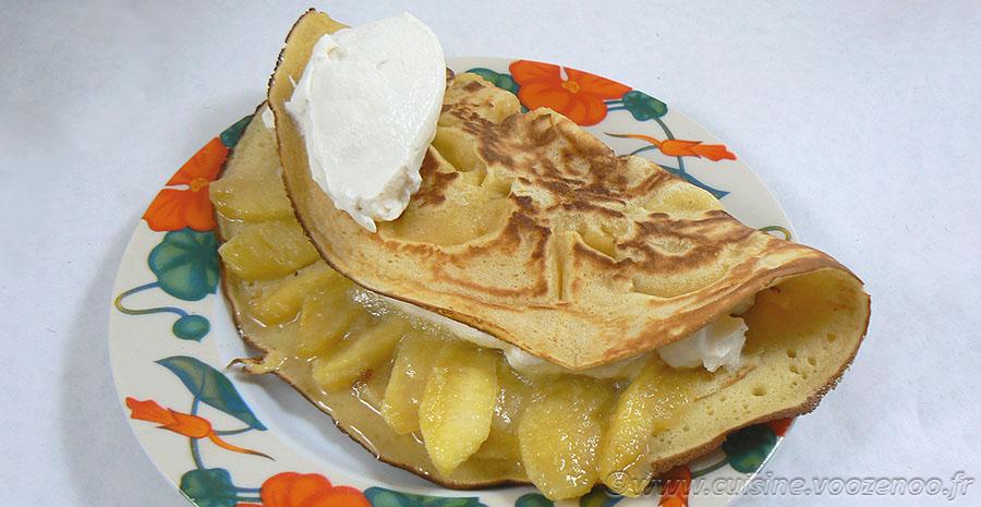 Farz Pitilig aux pommes caramélisées et chantilly slider